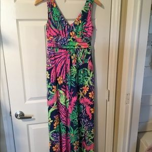 Lilly Pulitzer Sloane V Neck Maxi Dress Size S